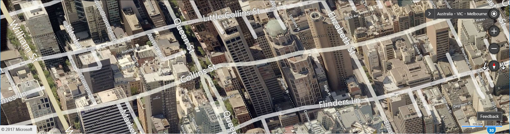 Melbourne Aerial View on Bing Maps - Envision IT Bing Maps Reseller in Australia
